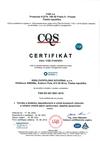 Certifikovaný systém managementu jakosti dle ČSN EN ISO 9001:2015